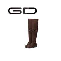 GD classics retro flat heel over the knee boots for lady