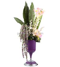 2015 New purple resin Modern Vase