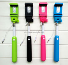 Noosy Unique Wired Selfie Stick,monopod selfie-stick with AUX Cable