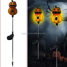 Halloween polyresin pumpkin solar stake decoration