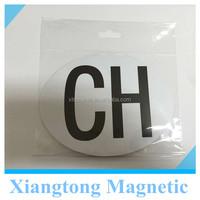 Advertising Custom Design CH Colored Printed Decorative Car Door Magnet / PVC Water-proof Magentic Painting Car Door Stickers