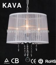 Brightness hanging plastic crystal chandeliers 9191/3P-WH
