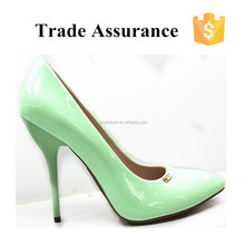 New arrival light green women shoes