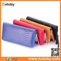 Cheap Snake Skin Women Leather Long Wallet Zipper Purse, Leather Long Wallet Zipper Purse