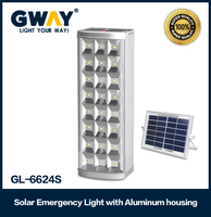 High quality aluminum housing 24pcs LED solar panel charger emergency lamp
