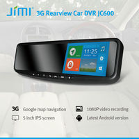 Newest 3G Smart Rearview Mirror DVR mini gps tracker keychain car dvr gps wifi