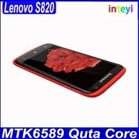 New Lenovo S820 Cellphone 4.7 inch IPS Android Mobile MTK6589 Quad Core RAM/ROM 1GB/4GB 13.0MP Camera Dual Sim Bluetooth GPS