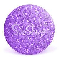 "Purple Foil Circles - 20""--Corrugated underCake boards"