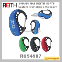 Hot Selling Outdoor Pocket Tool Carabiner with Knife(RC54987)