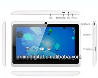 7 inch Cheap Google Android Q88 Tablets MID Allwinner A13 cortex-a8 1.25GHz 4GB Dual Camera 3g Wifi Capacitive touch