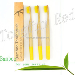 Most popular 100% biodegradable family pack bamboo designer toothbrush
