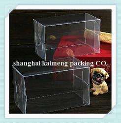 Transparent clear box small plastic macaron box folding PET food box