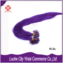 100% Brazilian virgin hair Pre-bonded Nail U Tip Keratin Glue Hair Extensions AAAAA quality with Whloesale factory price