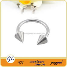 Fashion stainless steel basic items cone eyebrow rings body piercing jewelry