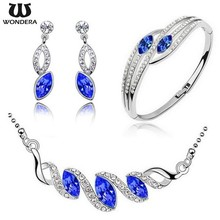 Promotional Hot Sale Korea Fashion Crystal Gemstone Set Of Jewelry