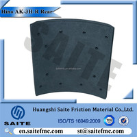 reliable saftety Rear brake lining drum for truck Hino AK-3H-F