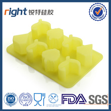 Silicone ice cube tray in diamond shape Yellow color food grade silicone ice tray