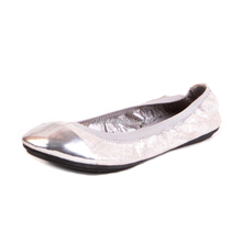 New design spring autumn ladies casual shoes soft bottom pointed toe femininos shiny ballet shoes