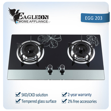 gas stove 2 burner with glass top