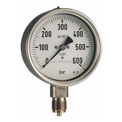 50/63 Ch,D9 corrosion resisting pressure gauge/Stainless Steel pressure gauge,Double bourdon tubes differential pressure gauge