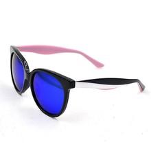 2015 custom barato venta al por mayor color montura de acetato, gafas de sol wayfarer