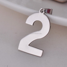 Digital pendant Character 2 stainless steel pendant jewelry