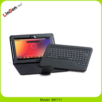 Wholesale!!!2015 Brand New and New Leather Cover Case Wireless Bluetooth Keyboard For Google Nexus 10 Tablet Keyboard BK711