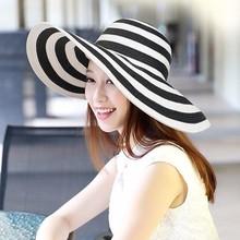 Abierto de tejido de paja de papel sombreros de verano para mujeres