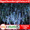50cm 8tubes/set outdoor christmas led falling snow lights christmas led snow tube light christmas tree lights