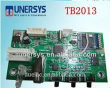 2015 top selling TUNERSYS customized TB2013 usb bluetooth radio mp3 board module