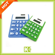 The solar and button cell battery calculator/ Wholesale Price Factory OEM Solar Energy Cheap Gift Solar Soft Silicon Calculator