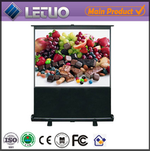 china manufacturer protable floor standing pull down price of projector screen