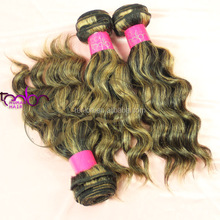 2014 new arrival fashion texture mixed color #1b/#27 best grade cambodian hair loose wave