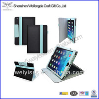 Hot! Dual Layer exterior leather case hard interior cover for Ipad Air