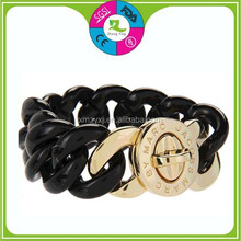 New Fashion personalized silicone twist bracelets with metal buckle with your own logo