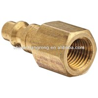 """Brass Air Chief Industrial Interchange Quick-Connect Air Hose Fitting, Plug, 1/4"""" Coupling x 1/4"""" NPT Female"""