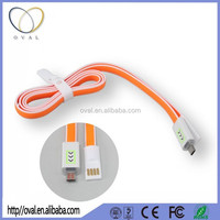 Hottest Colorful Noodle Flat Magnet Micro USB Cable Charger Data Sync Cable for Andriod smartphone camera MP4 player