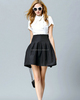 fashion black and white dress for beautiful lady