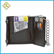 men wallet high quality luxury leather handmade with chain