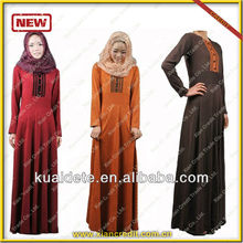 2014 el más nuevo diseño musulmán mujeres se visten de largo / mujeres largo abaya / de la señora kaftan KDTXK-017