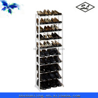 30-pair white plastic small shoe racks