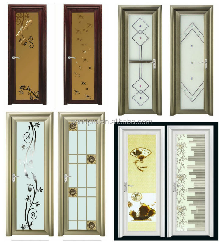 Cheap price standard size frosted glass grill design for Cheap glass doors
