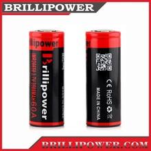Excellent high drain 26650 3500mah rechargeable battery /best quality brillipower 26650 3500mah li-ion batteries