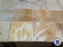 Honey onyx cut to size wall tile in stock on sale