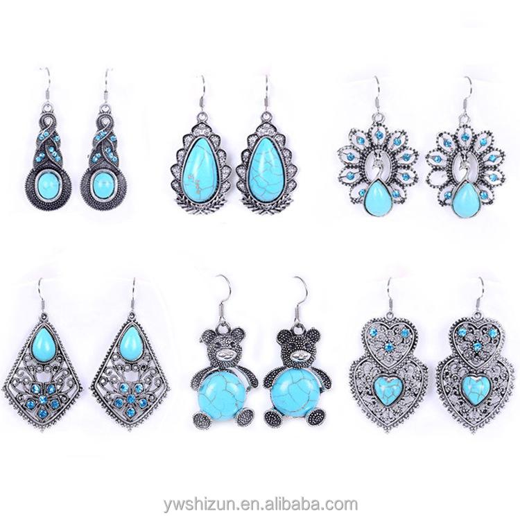 2015 jewelry earring jewelry zinc alloy antique silver