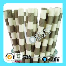 Party Supplies Free Shipping By DHL SAILOR Striped Grey Paper Straws