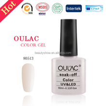 OUL'AC hot sale free samples gel polish, high quality uv gel nail polish