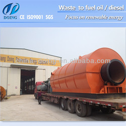 waste management tyre recycling to oil equipment with pyrolysis technology