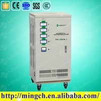 CE ROHS approved 20KVA three phase automatic three-phase 20kva voltage regulator for wind generator