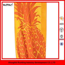 80% Polyester And 20% Polyamide Microfiber Printed Ananas Beach Towel